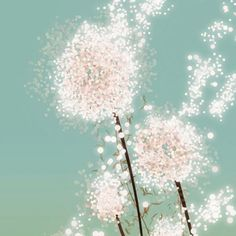 Dandelion art diy inspiration...This would be a cute mural in the girlies room!