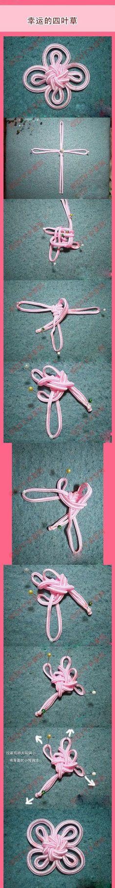 Este chinese knot parece muy complicado pero merece la pena intentarlo