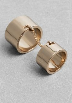 And Other Stories | Engraved Double Ring | Gold