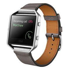 Para Fitbit Blaze inteligente, Amlaiworld Correa de cuero de lujo de la venda de reloj de pulsera (Gris) - https://complementoideal.com/producto/tienda-socios/para-fitbit-blaze-inteligente-amlaiworld-correa-de-cuero-de-lujo-de-la-venda-de-reloj-de-pulsera-gris/