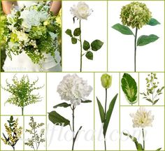 #green wedding #garden wedding #afloral http://blog.afloral.com/inspiration-boards/loris-green-and-cream-wedding-flower-inspiration-board/