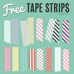 Free Clip Art: Tape Strips (Patterns)