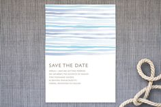 Horizon Save the Date Cards by Linda and Harriett at minted.com