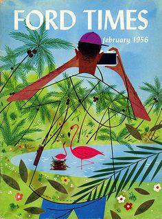 Ford Times illustration by Charley Harper, 1956.