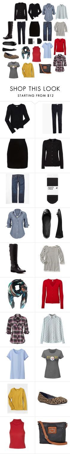 """""""Packing with a twist"""" by tah0027 on Polyvore featuring Aéropostale, Madewell, Thierry Mugler, Lands' End, Levi's, H&M, Silver Jeans Co., Gap, Sole Society and Rafé New York"""
