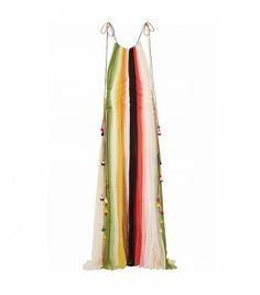Chloé Tasseled Striped Gown
