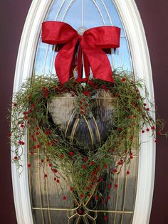 Valentines Day Grapevine Heart Door Wreath by AnExtraordinaryGift, $70.00