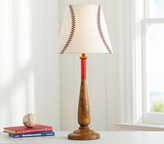Brett Baseball Shade #pbkids  Can I just make this shade with white shade and red paint pen?