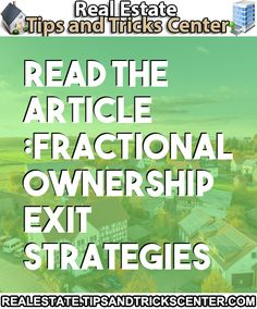 #realestate #property #fractionalownership #contractclause #number