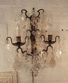 French Chandelier, Wall Lights, Ceiling Lights, Powder Room, Candle Sconces, Lamp Light, Chandeliers, Lamps, Shabby Chic