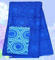 (5yards/lot) SLF50-5, High Quality african100% Cotton Cord French guipure lace fabric royalblue color!!wedding dress