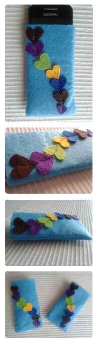 Felt phone case. I made it for my sister and then my friend asked me for another one and then my cousin and then my... ^^ I got the idea from pinterest!