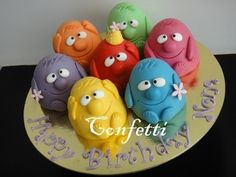 Little Monsters Mini Cakes By confetti_jeddah on CakeCentral.com