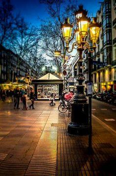La Rambla de Barcelona, España