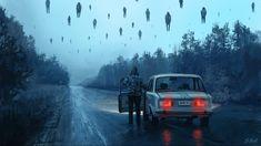 """Illustration from """"A Chernobyl Horror Story"""" series by Stefan Koidl Arte Horror, Horror Art, Chernobyl, Dark Fantasy, Fantasy Art, Illustration Inspiration, Illustration Example, Website Illustration, Illustration Styles"""