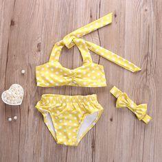 New Kids bébé filles Bikini costume Dot maillot de bain maillots de bain maillot de bain de natation enfants d'été vêtements 2 7Y dans Deux Pièces de Costumes de Sports & Entertainment sur AliExpress.com | Alibaba Group