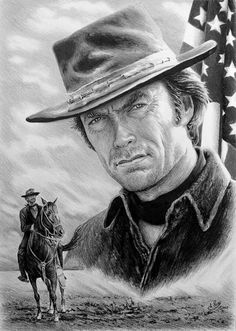 Clint Eastwood Drawing - Clint Eastwood American Legend Wf Edit by Andrew Read Clint Eastwood, Eastwood Movies, Westerns, American Legend, Celebrity Drawings, Cowboy Art, Western Movies, Western Art, Pencil Drawings