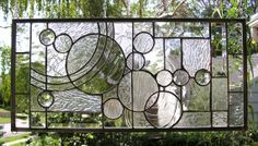 Perfect for my big windows...  Geometric Study in Clears Textures & Bevels  by StainedGlassArtist, $158.00