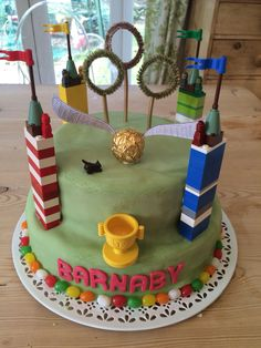 Harry Potter Quidditch themed cake