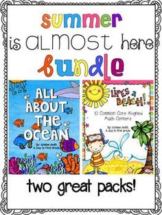 Summer is almost here bundle! An ocean unit and 10 CC aligned math centers! (at a discounted price!!)