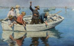 'Chadding - Elizabeth (Adela) Stanhope Forbes (1859-1912, Canada)