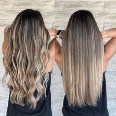 Ombre Hair Color For Brunettes, Brunette Hair With Highlights, Blonde Hair Looks, Balayage Hair Blonde, Brown Blonde Hair, Gorgeous Hair Color, Dyed Natural Hair, Hair Dye Colors, Hair Pictures