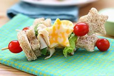 10 Healthy and Delicious School Lunches For Kids - Fun Sandwich Kabobs