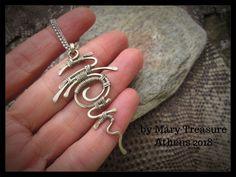 silver pendant hieroglyph wire wrap wirework wire wrapped jewelry pendant for women unisex #earringsmakingpendants #wirejewelry