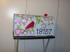 Mailbox - painted in 2007 - the red paint faded terribly the first year