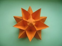 INTERFERENTE...artistice si diverse. : Origami:Decahedral Star Flower by Philip Shen.