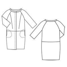 Выкройка пальто с рукавами реглан