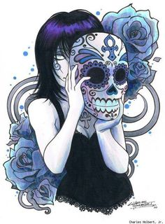 Dia de los muertos mask (Day of the dead)