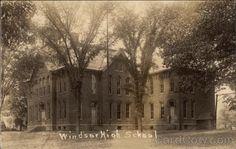 Real Photo Postcard Windsor High School New York Photo Postcards, Windsor, High School, New York, Spaces, History, New York City, Historia, Grammar School