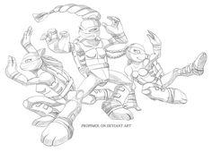TMNT Girls by propimol on deviantART