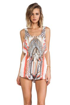 MINKPINK Mayan Temple Playsuit in Multi from REVOLVEclothing