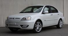 Coda white sedan model