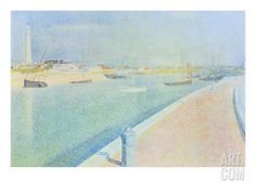The Channel at Gravelines, Petit Fort Philippe Premium Poster by Georges Seurat at Art.com