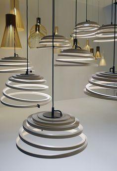 Milano Euroluce 2013: Aspiro lamps by Seppo Koho for Secto Design