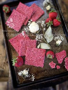 The only thing simpler would be to eat the strawberries and coconut as individual ingredients. But you can take these 2 ingredients and create a wonderful, crunchy cracker!