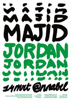 We are a creative firm based in Rotterdam, the Netherlands. We introduce cultural content to its audience through visual communication. Majid Jordan, Jordan Poster, Event Posters, Graphic Design Posters, Visual Communication, Rotterdam, Concert, Concerts, Design Posters