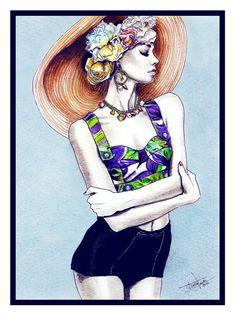 Fashion illustration by Tânia Santos, via Behance