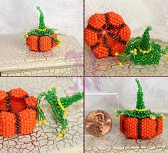 Beaded pumpkin mini box, pumpkin pattern by Potomac Beads Co (on Youtube). witch hat lid design by Moontique, on Etsy. Box Patterns, Seed Bead Patterns, Beading Patterns, Halloween Beads, Beadwork Designs, Beaded Boxes, Crafts For Seniors, Peyote Beading, Pony Beads