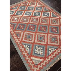 312 Handmade Flatweave Tribal Pattern Multi-colored Wool Rug (5' x 8') - Overstock™ Shopping - Great Deals on 5x8 - 6x9 Rugs