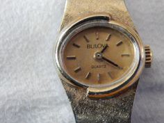 Vintage Ladies Bulova Watch Quartz Gold by AlwaysPlanBVintage on Etsy