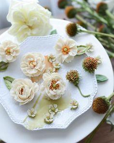 오랜만에 올리는 앙금꽃들 생화 같.........이 더 만들어 볼께요 매력있는 호랑이눈 #에키나시아#코리아플라워디자인협회 Bean Paste, Flower Cakes, Cream Flowers, Panna Cotta, Cake Decorating, Foods, Stylish, Tableware, Ethnic Recipes
