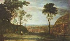 Claude Lorrain Landscape with Noli Me Tangere Scene painting for sale - Claude Lorrain Landscape with Noli Me Tangere Scene is handmade art reproduction; You can buy Claude Lorrain Landscape with Noli Me Tangere Scene painting on canvas or frame. Noli Me Tangere, Lorraine, Landscape Art, Landscape Paintings, Philippe De Champaigne, Städel Museum, Maria Magdalena, Marie Madeleine, Painting Gallery