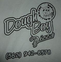 Dough Boy Pizza Pico Rivera Whittier California Tshirt Size XLarge