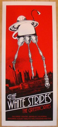2005 The White Stripes - Berkeley I Concert Poster by Rob Jones