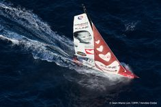 Skipper Tanguy de Lamotte  Sailing images of the IMOCA boat Initiatives Coeur, skipper Tanguy de Lamotte (FRA), during solo training for the Vendee Globe 2016, off Belle Ile in South Brittany, on September 25, 2016 - Photo Jean-Marie Liot / DPPI / Vendee GlobeImages d'action de I