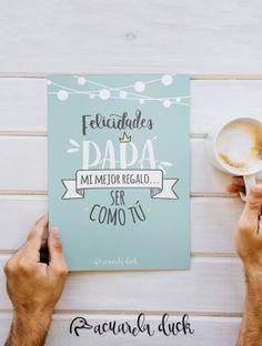 Felicitación día del padre. Lámina día del padre. Decargable gratis en nuestra shop online.